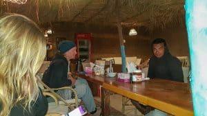 Dinner in the Lahami Kitecenter