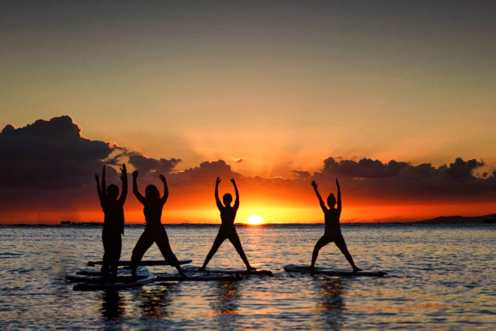 SUP Yoga Sunset